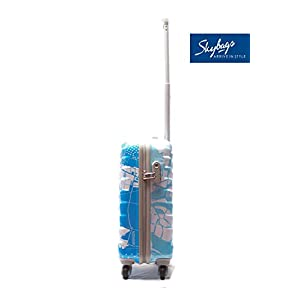 Skybags Polycarbonate 55 cms Blue Hardsided Cabin Luggage (Trooper)
