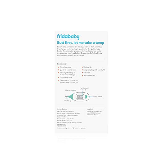 31DdGphkKfL - FridaBaby Quick-Read Digital Rectal Thermometer