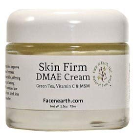 DMAE Lift & Firm Face & Neck Cream 77% Organic with MSM Vitamin C For Dry Skin, Fine Lines, Wrinkles, Helps Lift, Firm, Boosts Collagen, Soften & Smooth Skin Vegan pH Balanced 2.5oz