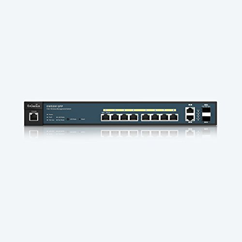 EnGenius  8 Gigabit 802.3at/af PoE+ Port Full Power Layer 2 Managed Switch, 2 SFP & 2 Uplink Ports, 130W PoE Budget  with Centralized Network Management [managed up to 50 EnGenius APs] (EWS5912FP) by EnGenius (Image #2)'