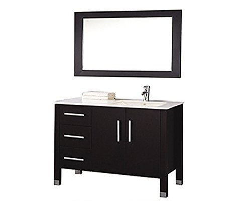 MTD Vanities Monaco-40R Monaco Single Right Sink Bathroom Vanity Set, 40