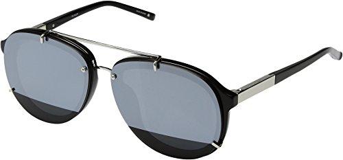 3.1 Phillip Lim Unisex PL162C9SUN Black/Silver/Silver Mirror - Lim 3.1 Phillip Eyewear