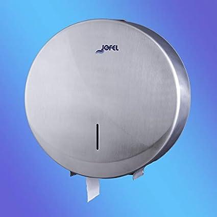 Jofel PORTARROLLOS 300 M Acero INOX AISI 304 Dispensador Industrial de Papel Higiénico En Rollo Continuo