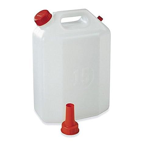 Bidón 20 litros de polietileno con boquilla de plastime para agua Vino Aceite líquido: Amazon.es: Electrónica