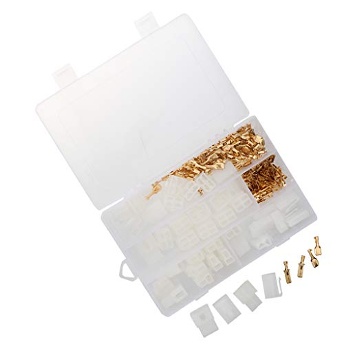 B Blesiya 20 Kits 2 4 Pin 6.3mm Crimp Terminal Cable Locking Male Female Connector Housing (Pin Female 4 Connector Housing)