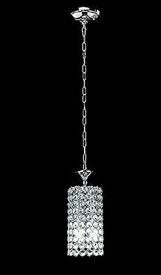 Diamond Life 2-light Chrome Finish Round Metal Shade Crystal Chandelier Hanging Pendant Ceiling Lamp Fixture, #320
