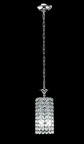 Top Lighting Chrome Finish 2-light Round Metal Shade Crystal Chandelier Hanging Pendant Ceiling Lamp (Crystal Pendant Lamp)