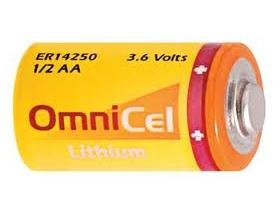 Aa Primary Lithium Battery - Omnicel 36 Volt 1/2 Aa 1200 Mah (Ls14250 And Er14250) Primary Lithium Battery