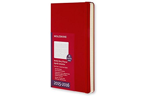 Moleskine 2015-2016 Weekly Planner, Horizontal, 18M, Pocket, Scarlet Red, Hard Cover (3.5 x 5.5)