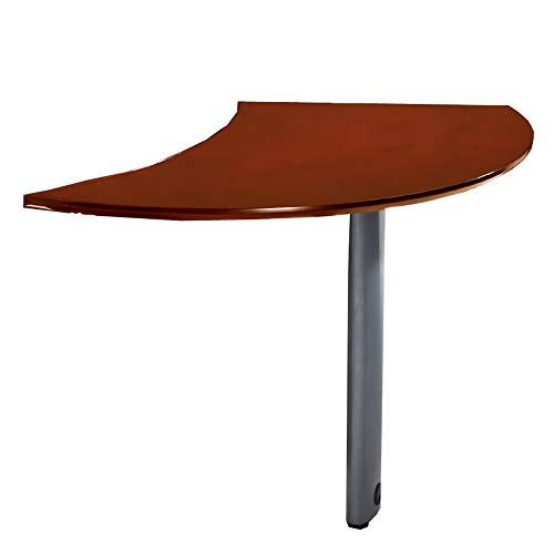 Mayline NEXTLCRY Napoli Curved Desk Left Extension for use with Desks. sold separately, Sierra Cherry Veneer