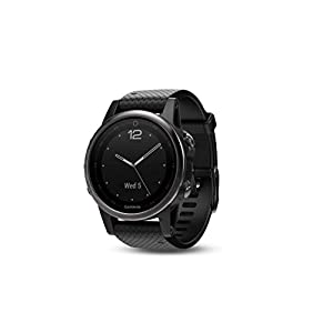 Garmin fēnix 5s, Premium and Rugged Smaller-Sized Multisport GPS Smartwatch, Silver/Black