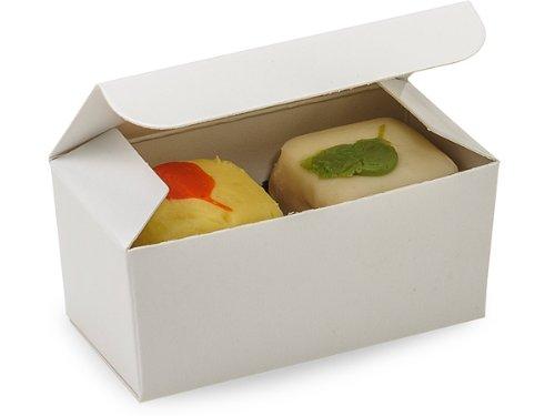WHITE Double Truffle Boxes2-5/8 x 1-5/16 x 1-1/4'' (2 unit, 50 pack per unit.)