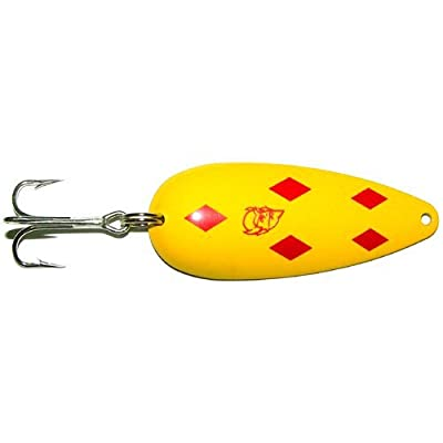 Dardevle Original Spoons (Yellow/Red Diamonds, 3/4 Ounce)