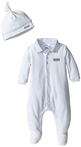 ef9d06d52993f Hugo Boss Baby Baby-Boys Newborn Velour Footie and Hat in a ...