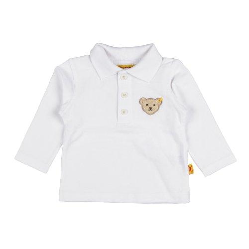 Steiff Unisex - Baby Poloshirt 0006831 1/1 Arm, Bright White, 92 (Herstellergröße: 92)