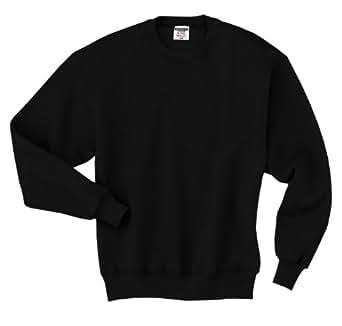 Jerzees mens 9.5 oz. 50/50 Super Sweats NuBlend Fleece Crew(4662)-BLACK-S