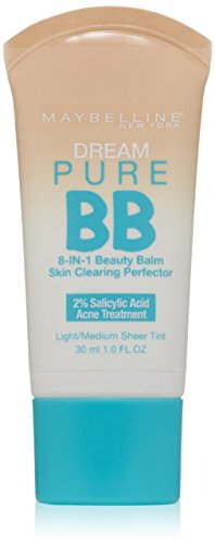 Maybelline Makeup Dream Pure BB Cream, Light/Medium Skintone