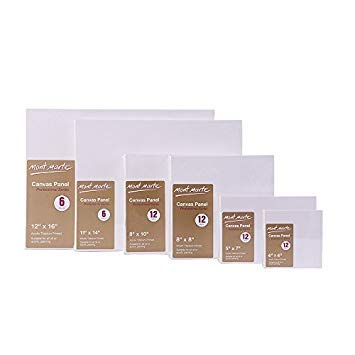 12 X 16 inches pack of 6 Canvas Panel Great for Students to Professional Artists Mont Marte Canvas Panel