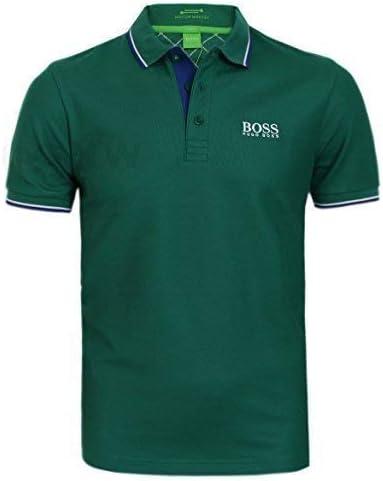 BOSS Hugo Hombre Golf Polo Camiseta Peppo Pro Negro, Azul, Azul Marino, Morado, Blanco S, M,L, XL, XXL - Mediana Verde, Chica