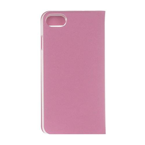 Protege tu iPhone, Para el iPhone 7 textura de textura lisa horizontal Flip caja de cuero con ID de pantalla de llamada Para el teléfono celular de Iphone. ( Color : Rosa ) Rosa