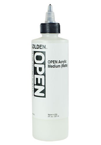 Golden OPEN Acrylic Matte Medium - 8oz Bottle