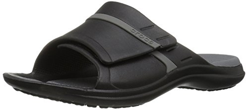 Crocs Unisex Modi Sport Slide, Black/Graphite,12 US Men/14 US Women