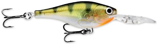 Rapala Glass Shad Rap 07 Fishing lure, 2.75-Inch, Glass Yellow Perch