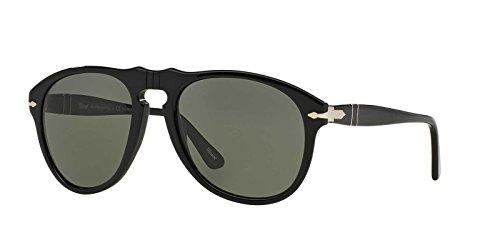 Persol Mens Polarized PO0649-95/58-54 Black Aviator Sunglasses