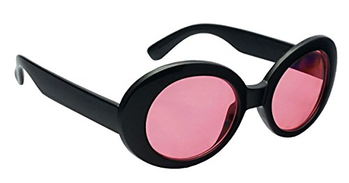 WebDeals - Oval Round Retro Sunglasses Color Tint or Smoke Lenses (Black, - Pink Oval