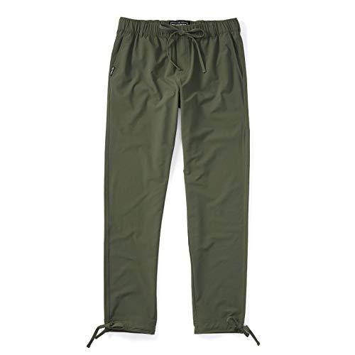 Pants Mens Wide Leg Linen Pants Elastic Waist Calf Length Capris Slanting Front Design Cotton & Linen Casual Baggy Pants Men's Clothing