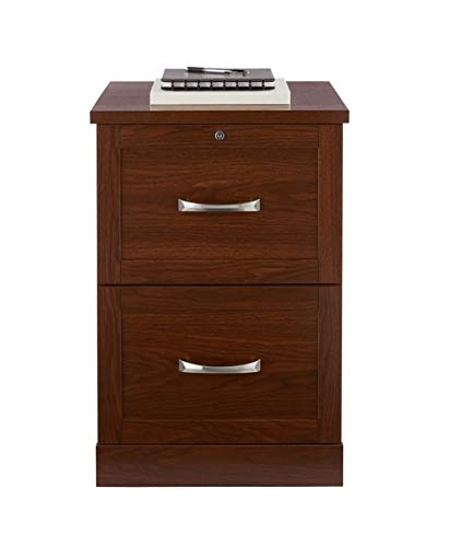 Realspace Premium 17''D 2-Drawer Vertical File Cabinet, Brick Cherry