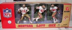 - 2007 McFarlane Sports Picks NFL Legends San Francisco 49ers 3-Pack White Jersey Variant