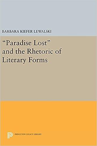 """Descargar Libros En Ingles """"paradise Lost"""" And The Rhetoric Of Literary Forms De Gratis Epub"""