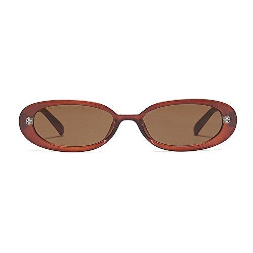 KOMEISHO Vacances de Marron Hommes Brillants la Personnalité de Plage pour Les UV Protection d'été Nuances Femmes ovales Les Conduire Lunettes pour nouveauté Designer Petites Soleil rrwXS