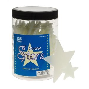 Glow in the Dark STARS SET night sky kids WALL DECOR Jar with 135 Glow-In-The-Dark -