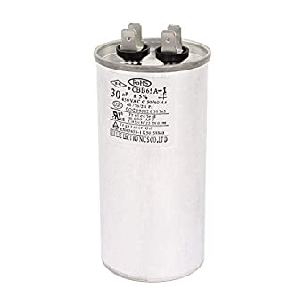 2 Pcs 50//60Hz Air Conditioner Electric Motor Start Run Capacitor CBB65