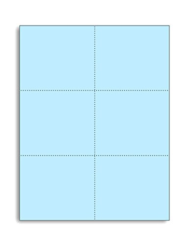 - Laser Printer Blank Perforated Cards 6 up per Page, for School registration cards, Flower Delivery Cards, Inventory Tags, Wedding Response Cards, RSVP Cards, Trip Tickets, ETC, (1200 Blue Cards)