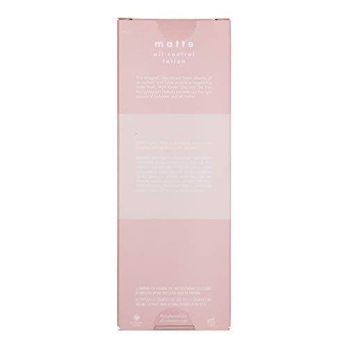 e.l.f. Elf+ Mattifying Lotion Whipped, Lightweight, Long Lasting Absorbs Oil, Controls Shine, Hydrates Infused with Tea Tree Oil and Kaolin Clay 2.2 Fl Oz