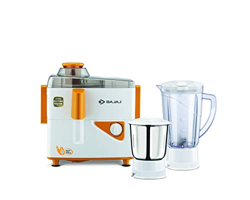 Bajaj Neo JX4 450-Watt Juicer Mixer Grinder with 2 Jars (White/Orange) 1