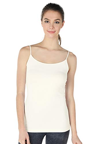 (Nikibiki Long Camisole Style NS4011 (IVORY), One size fits all )