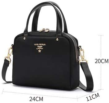 Yuanyuanliu Bolso De Mujer Crossbody Nylon Oxford Canvas Mini Bag Bolso De Hombro (Color : Black) Black
