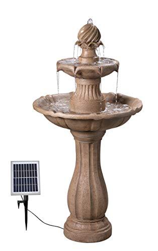 Fuente solar de pie para el aire libre.
