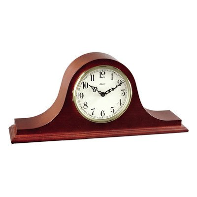 Hermle Black Forest Clocks 4Tambour Clock in Cherry with Ivory Colored -