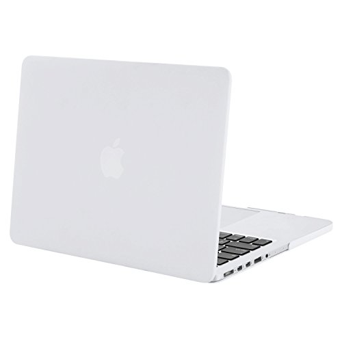 Case White Plastic (MOSISO Case Only Compatible Older Version MacBook Pro 15 inch Model A1398 with Retina Display (2015 - end 2012 Release), Plastic Hard Shell Case Cover, White)
