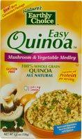 Nature's Earthly Choice Easy Quinoa Gluten Free Mushroom & Vegetable Medley -- 4.8 oz