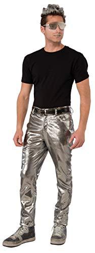 Forum Mens Futuristic Silver Pants -