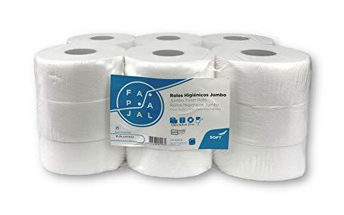 Fapajal Papercare Toiletpapierrol, jumbo-cellulose, 2-laags, gelamineerd, 120 m, 18 rollen