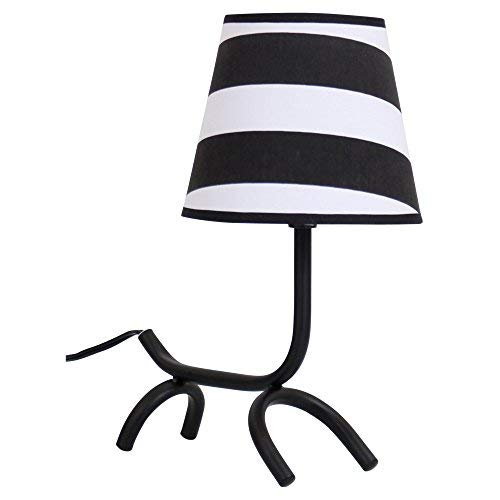 Lumisource LS-L-WFTBL B+BW Woof Puppy Shaped Table Lamp, Black/White