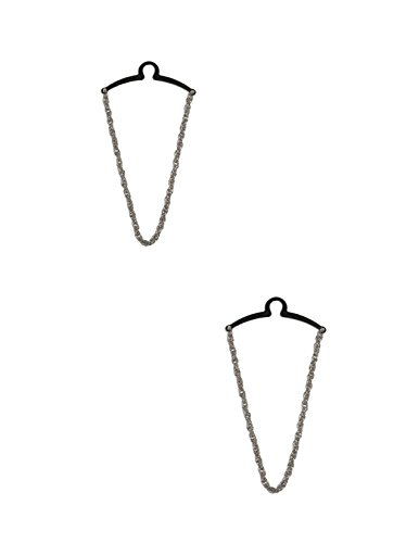 - Competition Inc. Men's Rope Style Tie Chains (Pack of 2), Silver/Silver