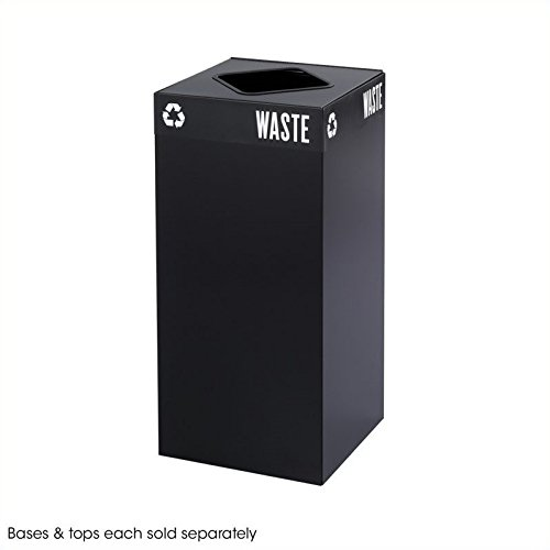 - Safco Products 2982BL Public Square Recycling Trash Can Base, 31-Gallon (Top sold separately), Black